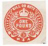 (I.B) George V Revenue : Bill or Note £1 (impressed duty)