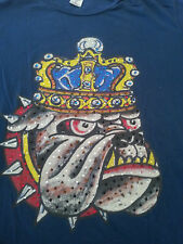ED HARDY CHRISTIAN AUDGIDIER cotton blue large L Tshirt KING CROWN JEWELS