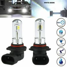 2 X 9005 HB3 9145 H10 6000K 80W LED Cree Projector Fog Driving Light Bulb White