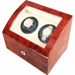 Double Laminated Makah Burlwood Curved Automatic Watch Winder