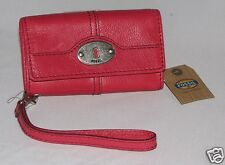 Fossil Leather Marlow iPhone SE Wristlet Flamingo Pink SL3297675 NWT