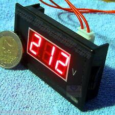 VOLTMETRO AC 60-500V LED ROSSO pannello 220V casa laboratorio digitale solare