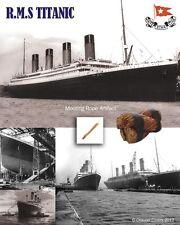 RMS Titanic ORIGINALE ORMEGGIO CORDA presentazione RARA Storica Da Collezione