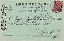 #TORINO: testatina-LIBRERIA CARLO CLAUSEN gia' ERMANNO LOESCHER- 1894