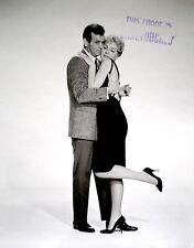 David Janssen Stella Stevens Press Photo 1961 Man Trap Promo Proof Stamped VTG