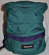 EASTPAK Vintage Purple Green Canvas USA Backpack School Book Bag Top zipper old
