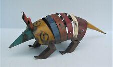 "New listing Metal Art Armadillo Sculpture 17"" Long Yard Art Animal Figure"