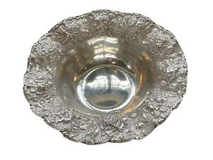Vintage Estate 925 FINE REPOUSSE Sterling Bowl - RARE!