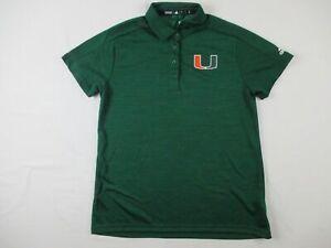 Miami Hurricanes adidas Polo Shirt Men's Green Poly NEW Multiple Sizes