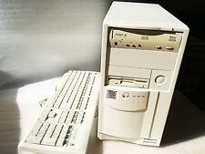 """Vintage PC Pentium II 333 MHz 3,5"""" floppy  CD + 17 GAMES WINDOWS 98 RETRO GAMING"""