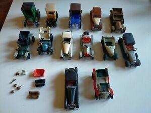 lot de  13 tacots voitures miniatures publicitaires Huilor et divers