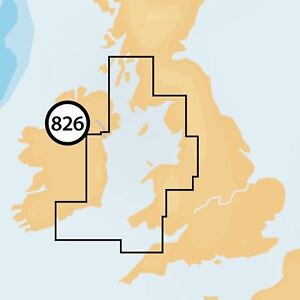 NAVIONICS Plus Small Double 826 - Irish sea & Scotland SW CHART CARD - Micro SD