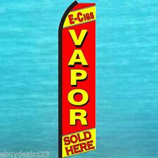 E-CIGS VAPOR SOLD HERE SWOOPER FLAG Cigarette Cigar Store Flutter Feather Banner