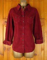 NEW M&S INDIGO LADIES BURGUNDY CORDUROY COTTON SHIRT BLOUSE TOP UK SIZE 8-14