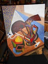 Cubist Oil Painting on Canvas