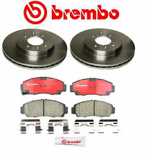 Set of 2 Brembo Front Brake Rotors & Pads Kit Acura CL TL TSX Honda Acoord V6