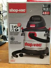 Shop-Vac 5 Gallon 4.5 Peak HP Wet Dry Shop Vacuum Stainless Steel Canister