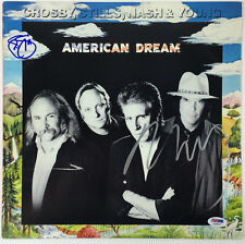CSNY SIGNED AMERICAN DREAM ALBUM NEIL YOUNG & STEPHEN STILLS PSA/DNA #Y45867