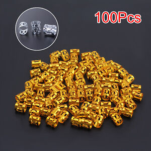 100pcs Hair Jewellery Rings for Accessories Clips Braiding Cuff Decoration Kit