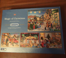 Gibsons 4 x 500 Christmas Jigsaw Puzzles 'Magic Of Christmas'