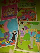Whitman 1971 Hanna Barbera Cartoon Josie & the Pussycats Set of 4 Puzzles Mib