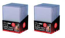 (50 / 2 Packs) Ultra Pro Super Thick 75pt Toploader Card Holders Jersey Patch