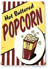 TIN SIGN Hot Popcorn Metal Décor Wall Art Theater Kitchen Store Bar A431