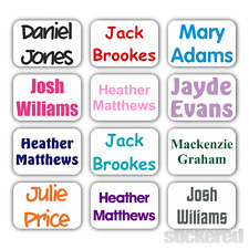 30 PERSONALISED MINI IRON ON SCHOOL UNIFORM NAME LABELS TAGS EASY IRON