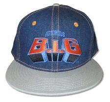 Notorious BIG Biggie Smalls Knicks Blue   Grey Baseball Cap Hat New Official 56e3617e89c0