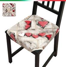 Cuscino copri sedia cuori UNIVERSALE casa cucina cotone alette lacci trapuntato