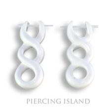 organische Ohrringe Earrings Bone Knochen Piercing Design schmuck Er025