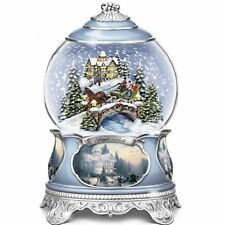 Thomas Kinkade Snowglobe With Sculpted Scene: Lights Up