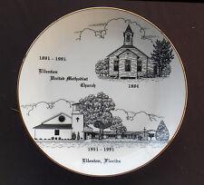 ELLENTON FLORIDA Souvenir Collector's Plate UNITED METHODIST CHURCH 1991
