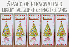 5 pack of Special Christmas cards personalised luxury cards for Christmas