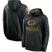 Green Bay Packers Hoodie 2020 Salute to Service Sideline Therma Pullover Sweater