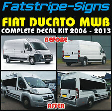 FIAT DUCATO MWB MOTORHOME VINYL GRAPHICS STICKERS DECALS STRIPES CAMPER VAN