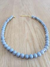 Fashion Single Strand Grey Plastic Necklace Max 20 Inches