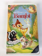 BAMBI VHS Black Diamond Walt Disney Classic 942 VTG 1989 First Release RARE!🤩