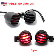 Front & Rear Motorcycle Turn Signals Indicator Light For Bobber Cafe Racer Bikes