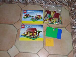 LEGO 5766 CREATOR 3 IN 1  - MA CABANE DANS LES BOIS  - COMPLET