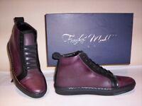 Frankie Model scarpe sportive alte sneakers casual uomo pelle bordò 41 42 43 44
