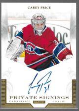 Panini Private Signings Auto Carey Price PR1 Canadiens SP