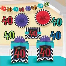 40th Birthday Party Supplies Happy Celebration Room Decorating Kit 10pc Fortieth