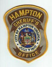 VIRGINIA - Hampton Sheriff's Office patch