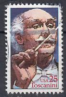 USA Briefmarke gestempelt 25c Toscanini Dirigent / 329