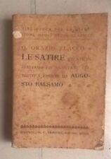 LE SATIRE ORAZIO FLACCO AUGUSTO BALSAMO SANSONI 1910
