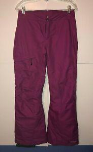 Columbia Women's Bugaboo Snow Pants Size Small Purple Omni Heat Waterproof NICE