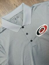 Carolina Hurricanes Shirt Adult Medium Gray Black Nhl Hockey Adidas Mens