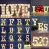 A-Z Alphabet LED Letter Lights Light Up White Plastic Letters Standing Hanging