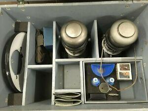 Original Petromax / Geniol Schweizer Armee Beleuchtungskiste mit Faltlaterne